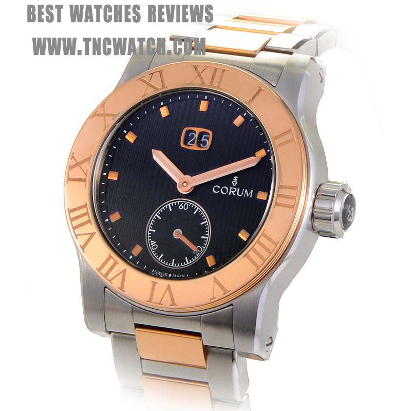 rose gold corum romulus chronograph watch replica