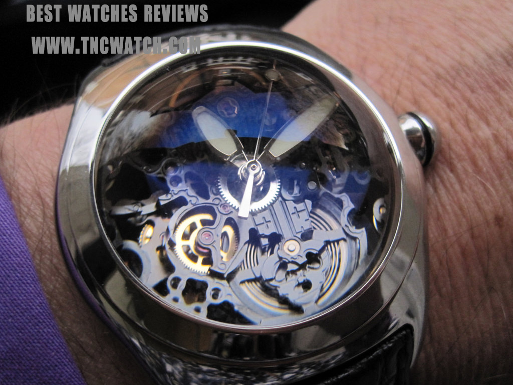 corum bubble skeleton watch diver chronograph replica