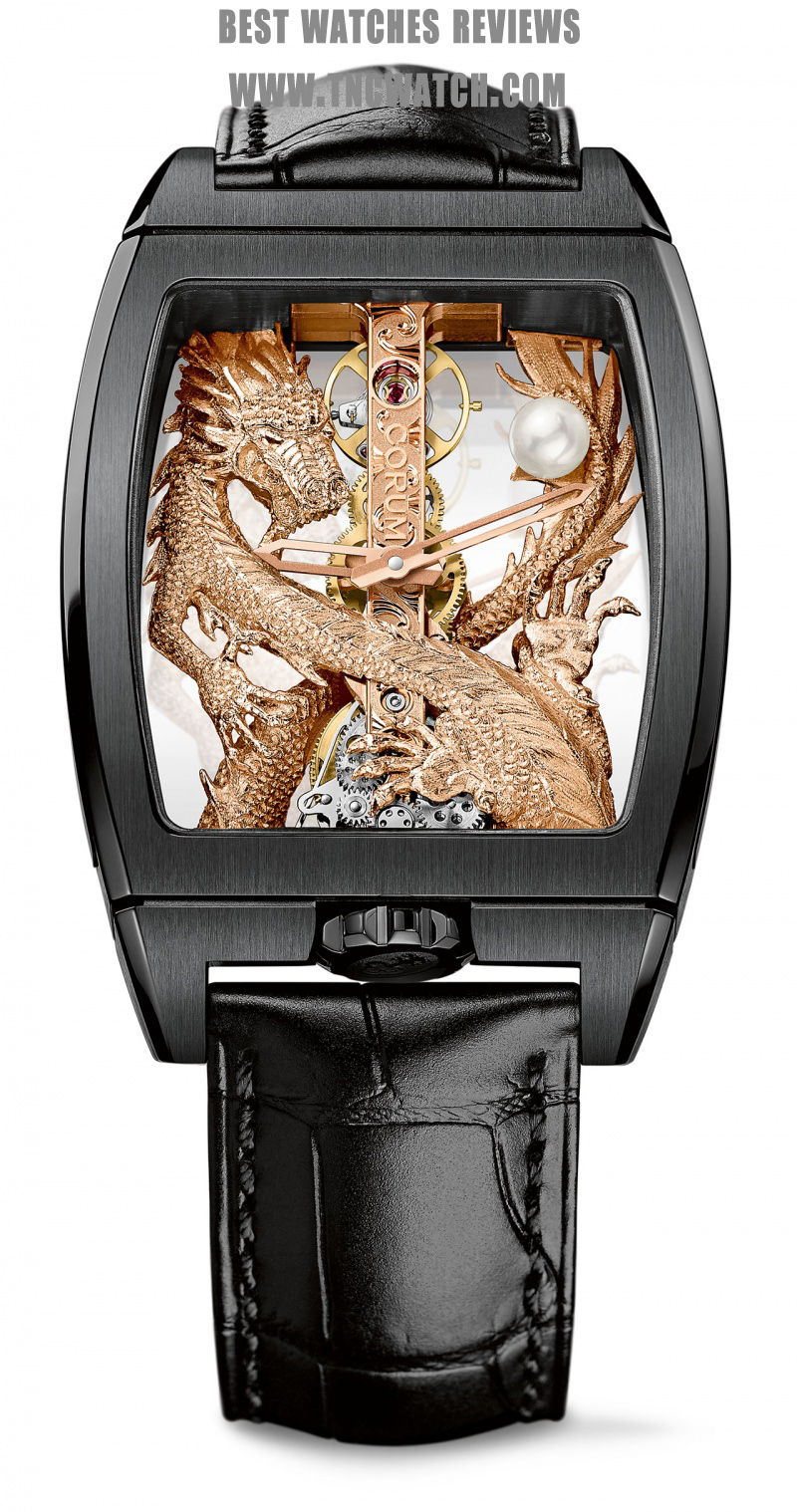 corum golden bridge titanium automatic watch replica
