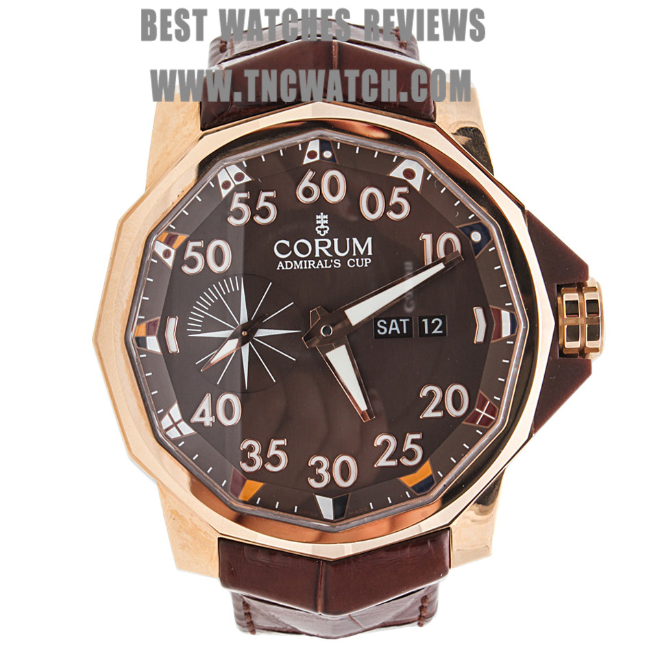 rose gold corum admirals cup replica swiss watch